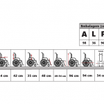 Cadeira de rodas reformada F-0012 – Retirada no local