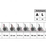 Cadeira de rodas reformada F-0201 – Retirada no local