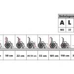 Cadeira de rodas reformada – F-0600 (Hospitalar) – Retirada no local